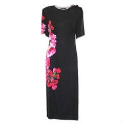Dolce & Gabbana Long Silk Floral Dress