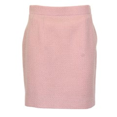 Chanel Pink Wool Skirt 40
