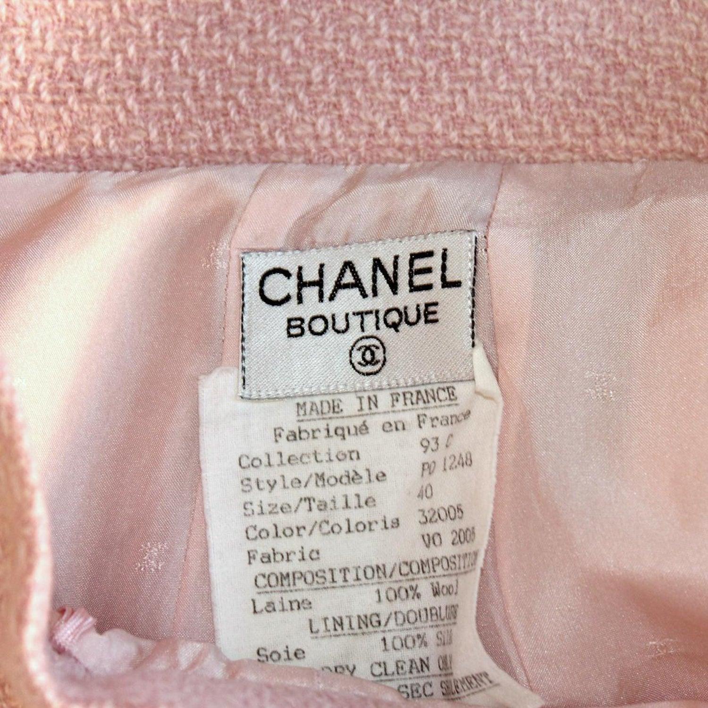 d094c553db34 Chanel Pinker Rock aus Wolle 40 im Angebot bei 1stdibs