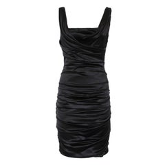 Dolce & Gabbana Black Satin Dress IT 40