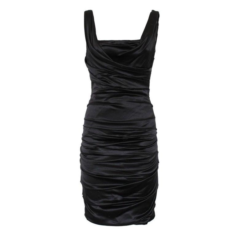 Dolce & Gabbana Black Satin Dress IT 40