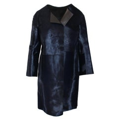 Jil Sander Midnight Blue Calf & Lamb Coat