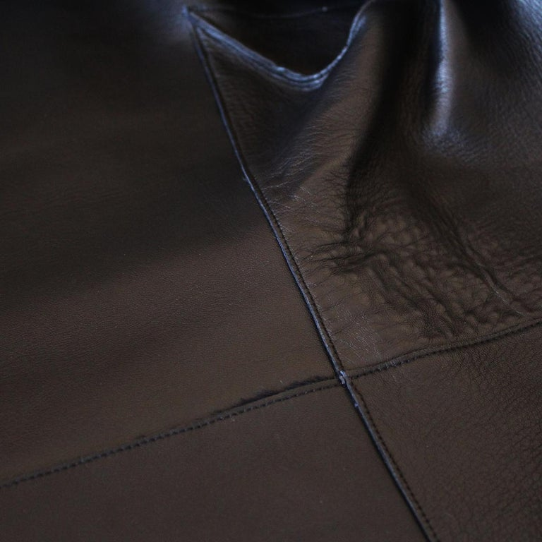 Jil Sander Midnight Blue Calf & Lamb Coat In Excellent Condition For Sale In Gazzaniga (BG), IT