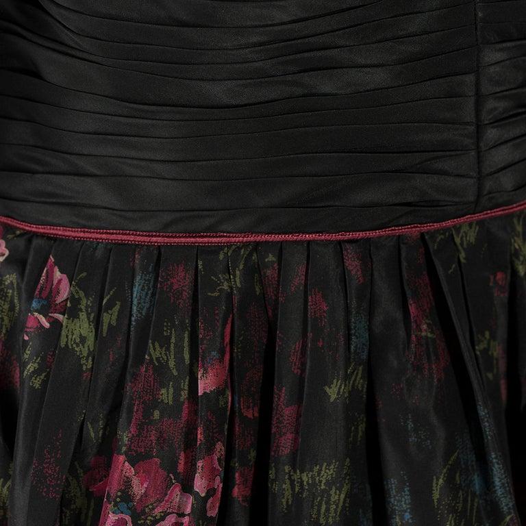Black 1970s Raffaella Curiel Milano Evening Gown