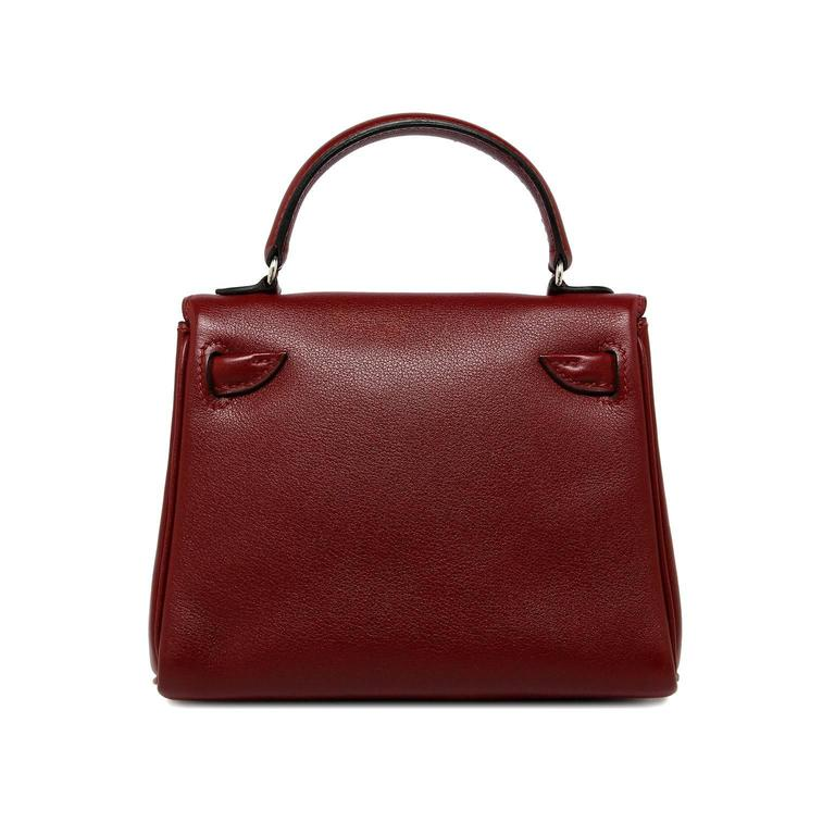 5b533963233f Limited edition Hermes Kelly Doll Rouge Hermes Gulliver leather Palladium  hardware Stamp  D Square 2000