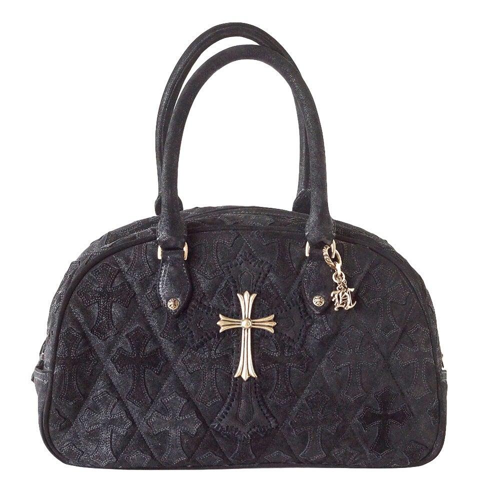 Chrome Hearts Bag Colette Bowling Bag Suede Sterling