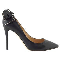 Valentino Shoe Pump Signature Studded Leather Bow 39 / 9