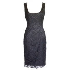 DOLCE&GABBANA dress fitted signature lace timeless classic 44 fits 6