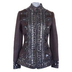 OSCAR de la RENTA jacket camel hair remarkable adornment nwt 4 2die4