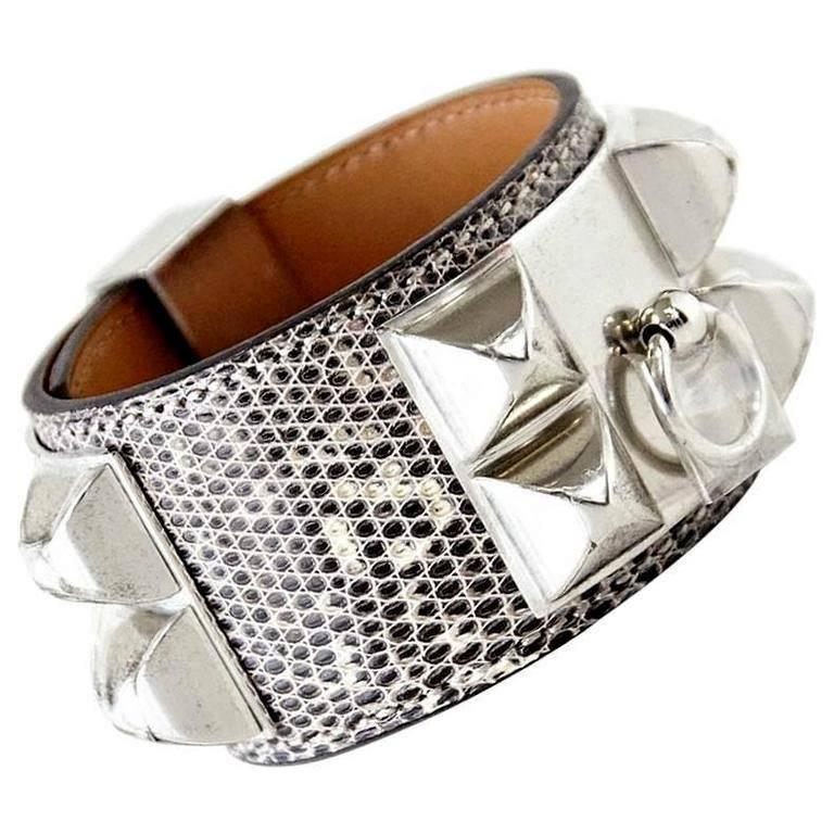Hermes Cdc Collier De Chien Ombre Lizard Cuff Bracelet S New For