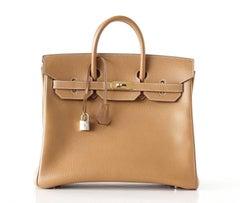 Hermes Birkin 32 Hac Bag Natural Ardennes Gold Hardware