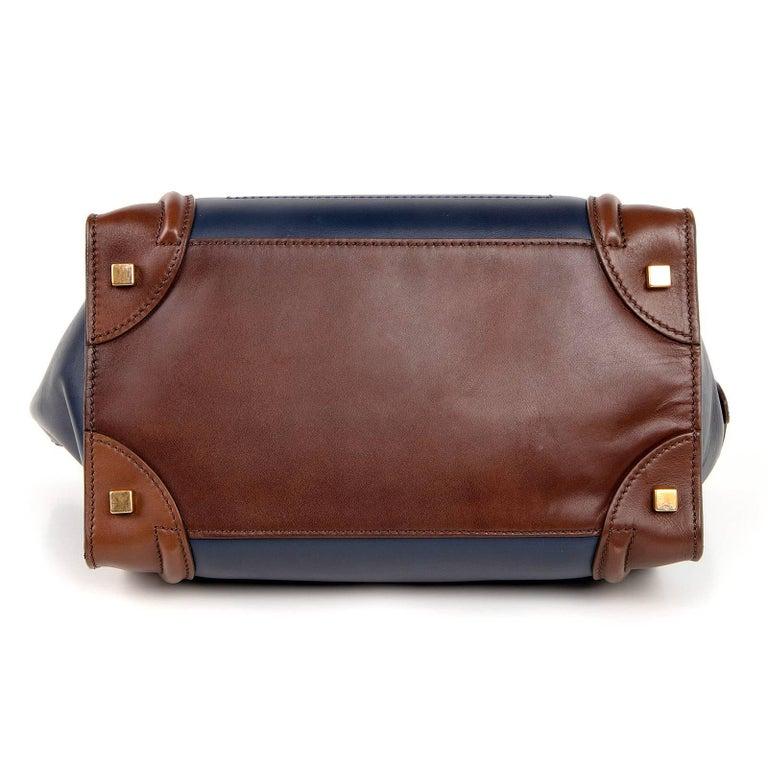 Celine Phantom Medium Tri Colour Navy Brown Black Luggage Tote Bag  For Sale 6