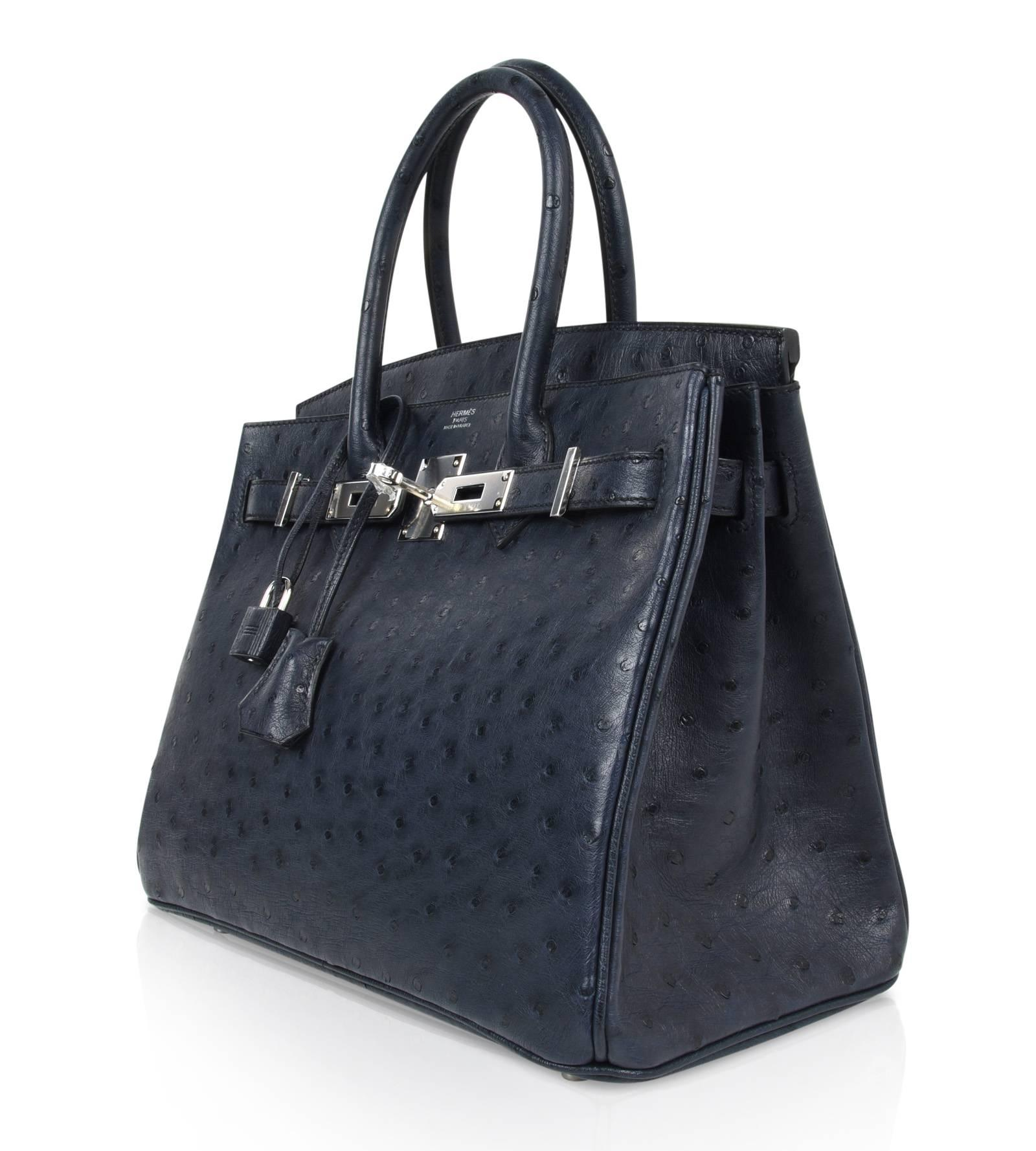 37e7f4b07694 ... cheapest hermes birkin 30 bag beautiful ostrich blue indigo palladium  hardware for sale at 1stdibs 88fad