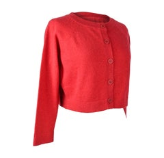 Chanel Cardigan Raspberry Pink Cashmere Cropped 40 / 8