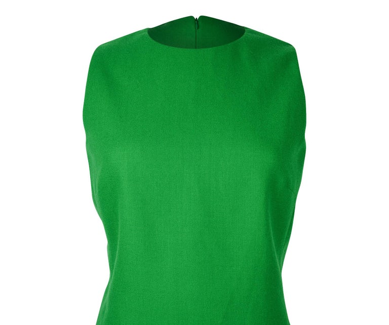 Women's Christian Dior Top Emerald Green Sleeveless Shaped and Fitted fits 8 For Sale