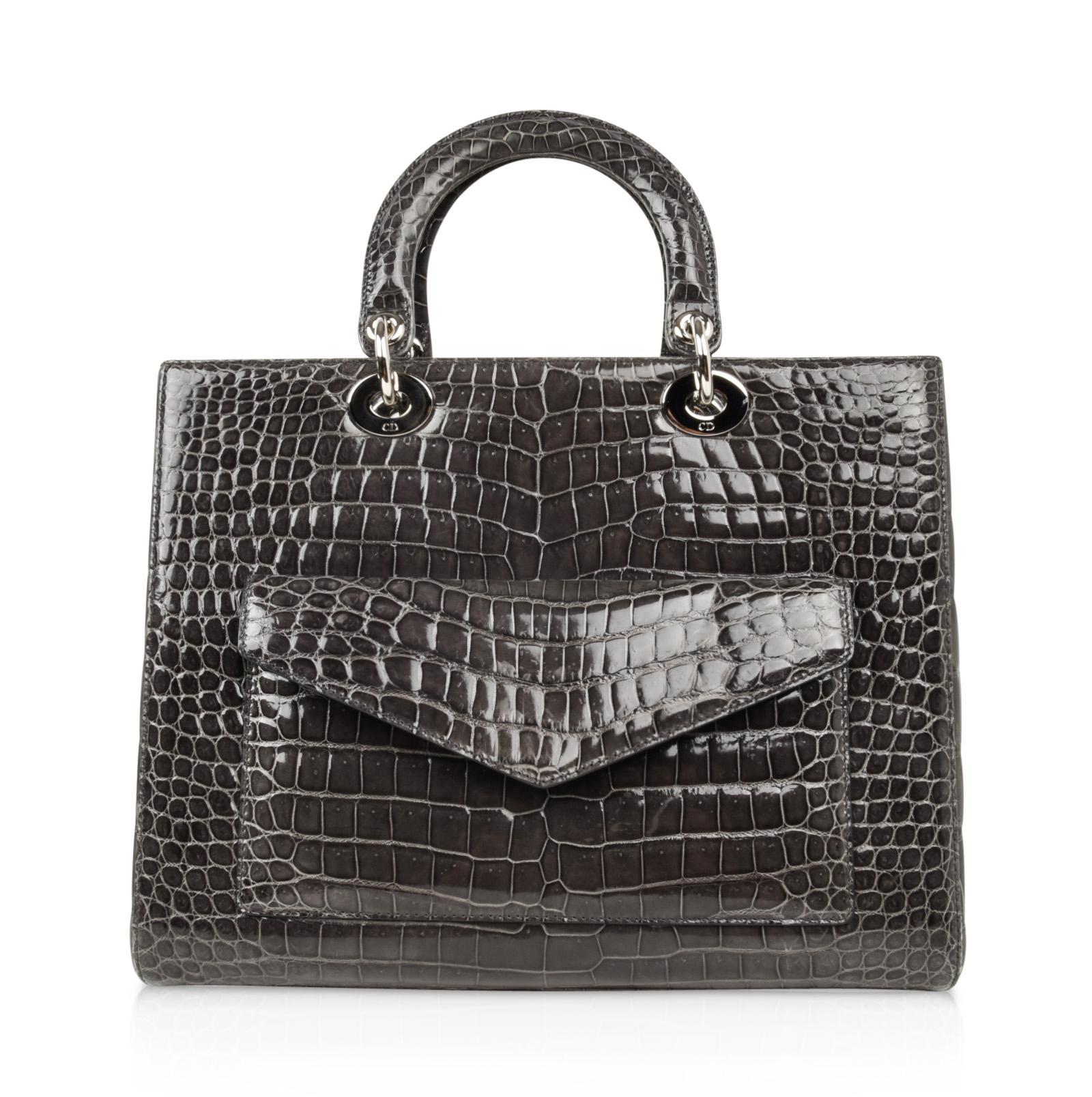 2019 year look- Dior lady crocodile pattern bag sale