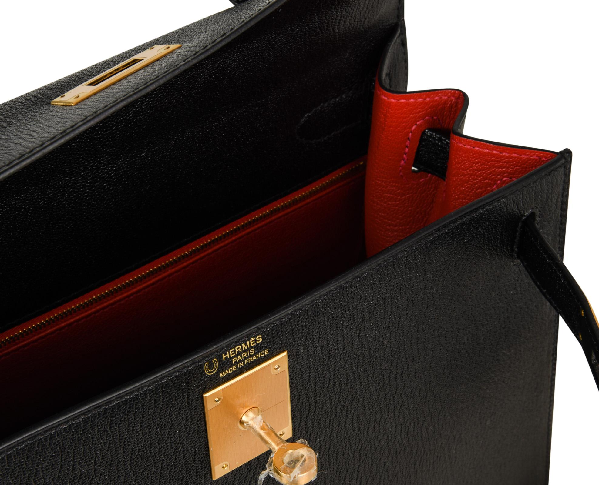 aa85ff0a87a8 ... usa guaranteed authentic rare chevre leather hss hermes kelly 28 sellier  bag with brushed gold hardware
