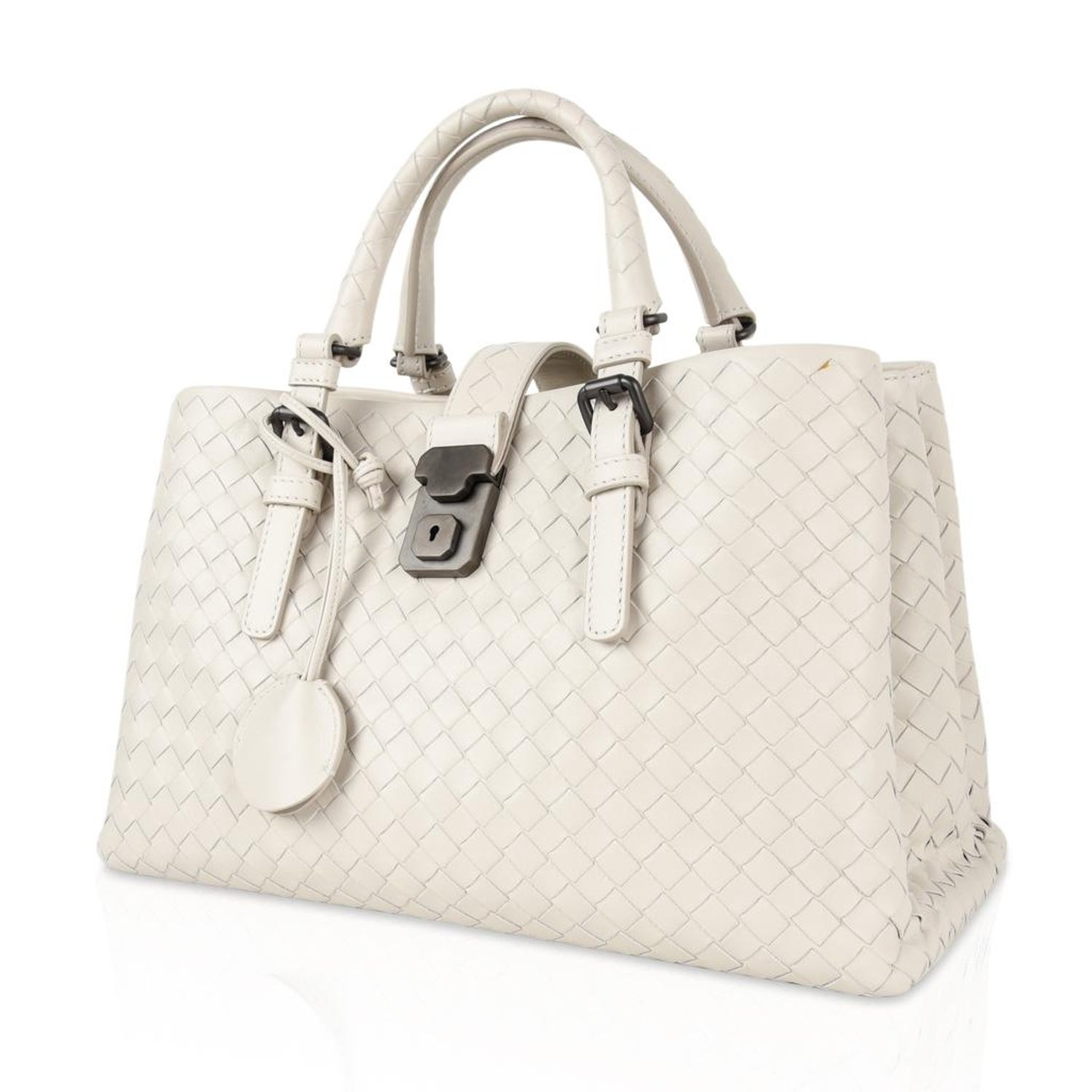 5353b15df1 Bottega Veneta Intrecciato Bag Small Roma Leather Tote Detachable Shoulder  Strap For Sale at 1stdibs