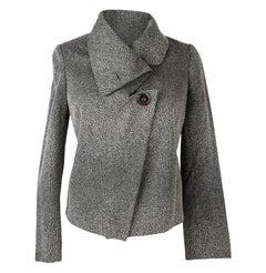 Giorgio Armani Jacket Unique Stingray Print Black / Gray 38 / 6 New
