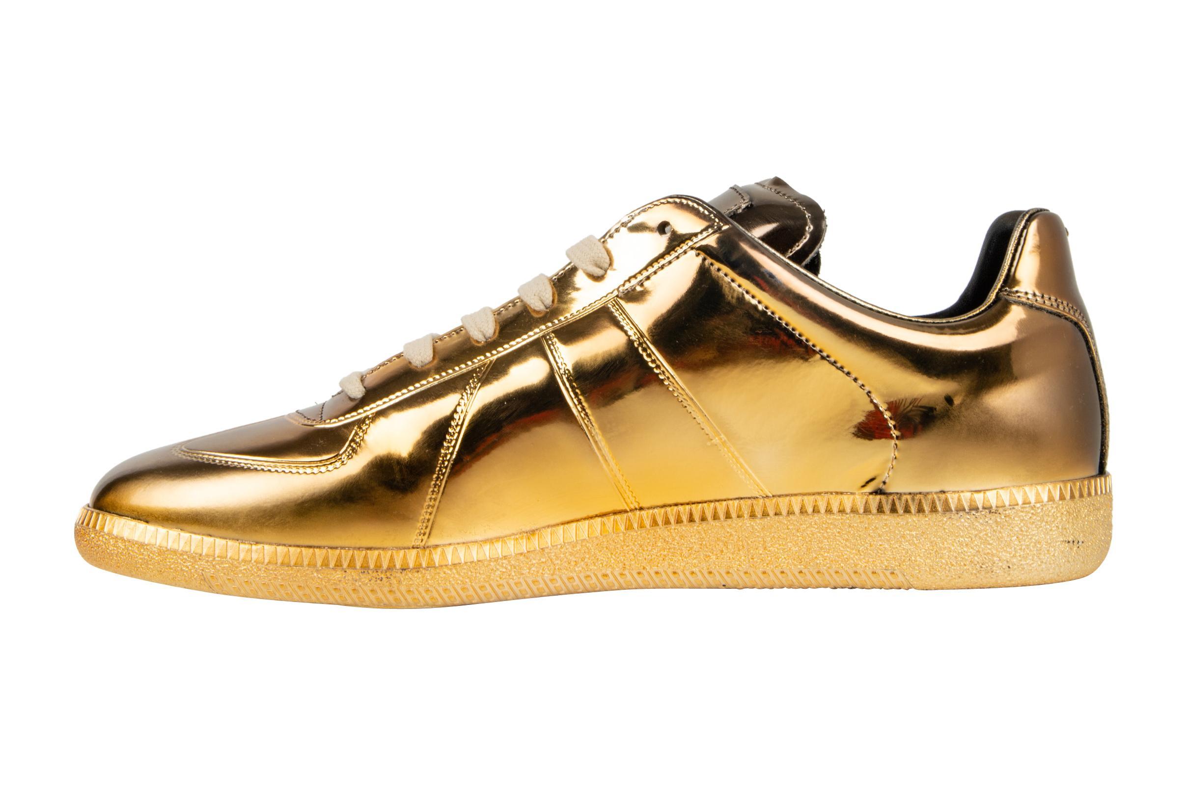 gold margiela sneakers