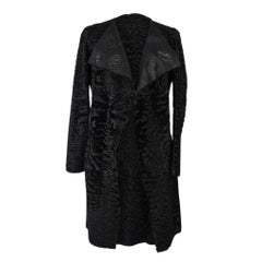 Christian Dior Coat Black Persian Lamb Shearling Reversible 6
