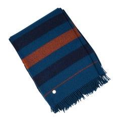 Hermes Blanket Rocobar Blue Hermes Sellier Clou de Selle New