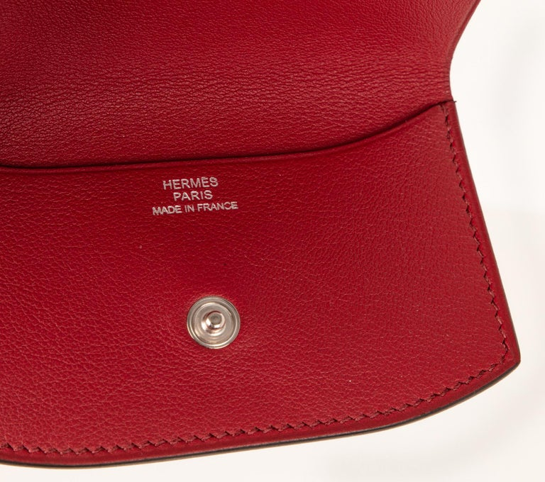 Hermes Bag Picnic Osier Wicker Clutch Rouge H New For Sale 7