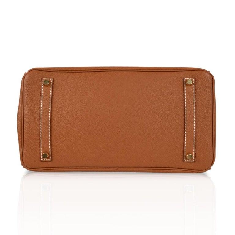 Hermes Birkin 35 Bag Gold Togo Gold Hardware Iconic CLassic For Sale 6