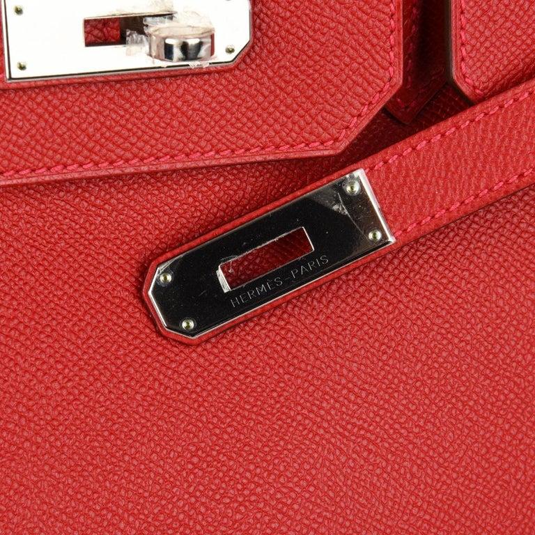 Women s Hermes Birkin 35 Rouge Casaque Lipstick Red Epsom Palladium new For  Sale b62e2875ad