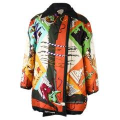 Hermes Jacket Carnavale de Venise Vivid Reversible Scarf Print Vintage 36 / 6