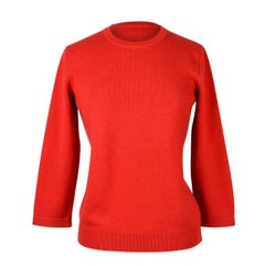 Hermes Sweater Red Wool / Cashmere fits S / M
