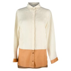 Akris Top Shirt Tunic Bone and Butterscotch 8