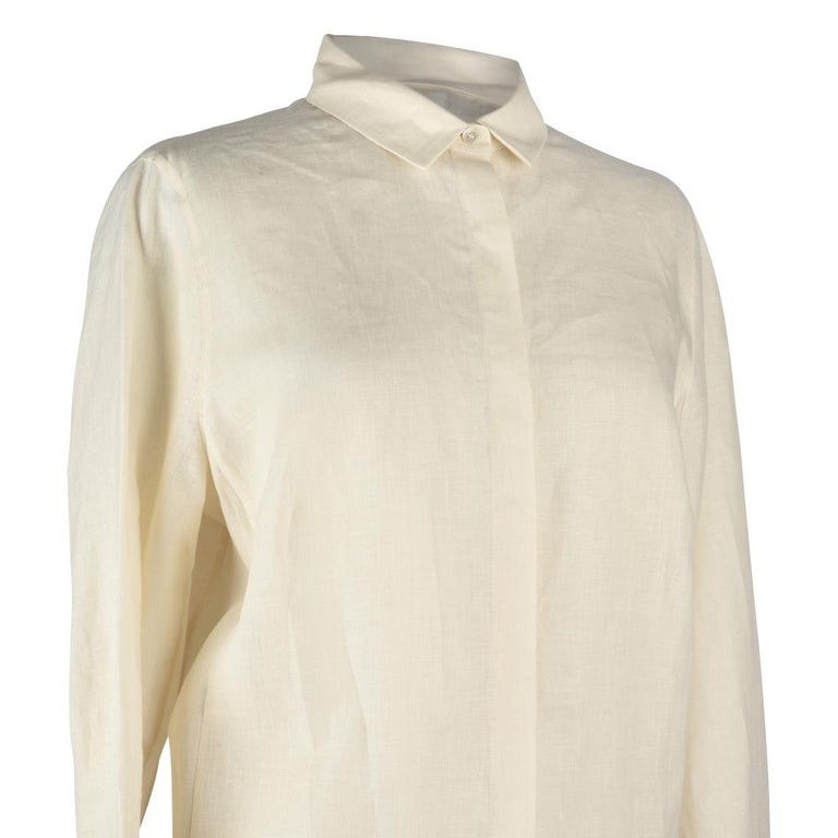 c6073d44a80 Akris Top Shirt Tunic Bone and Butterscotch 8 For Sale at 1stdibs