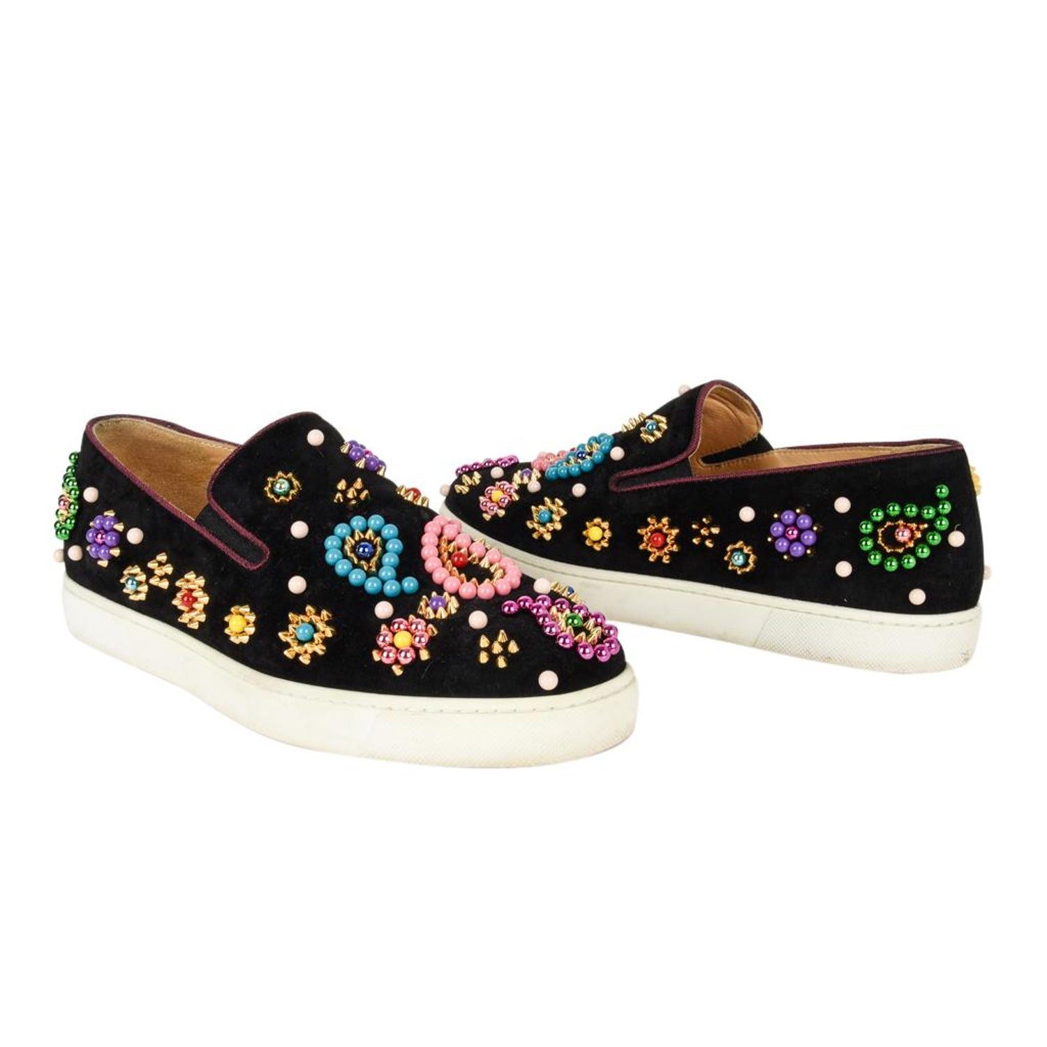 718d6697852 Christian Louboutin Shoe Slip on Sneaker Boat Candy 39 / 9