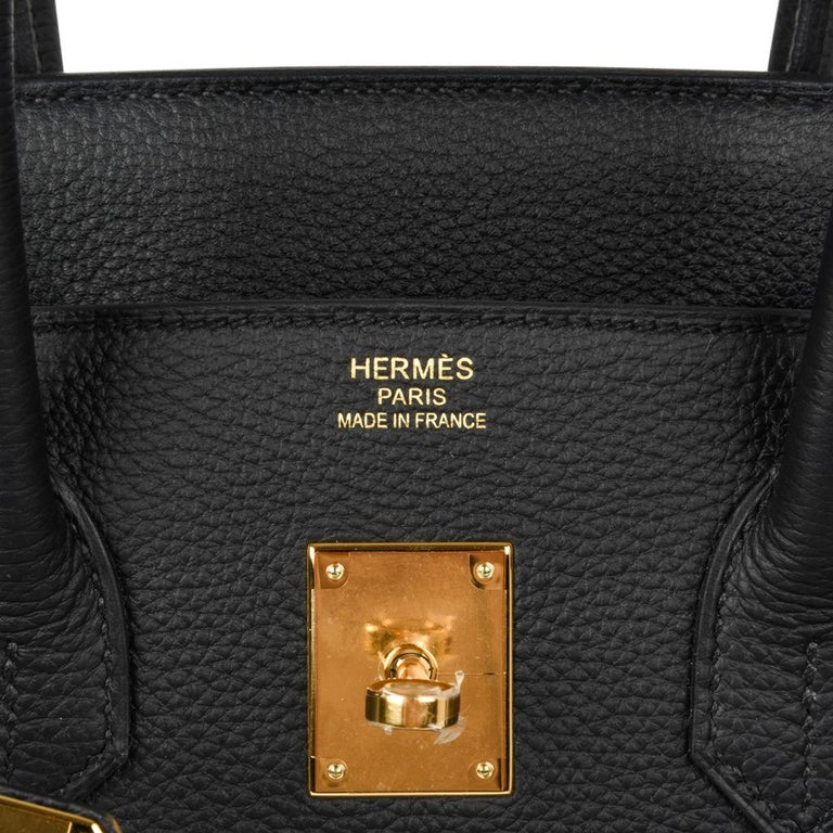 Hermes Birkin 35 Bag Black Togo Gold Hardware Ultimate Classic In New Condition For Sale In Miami, FL