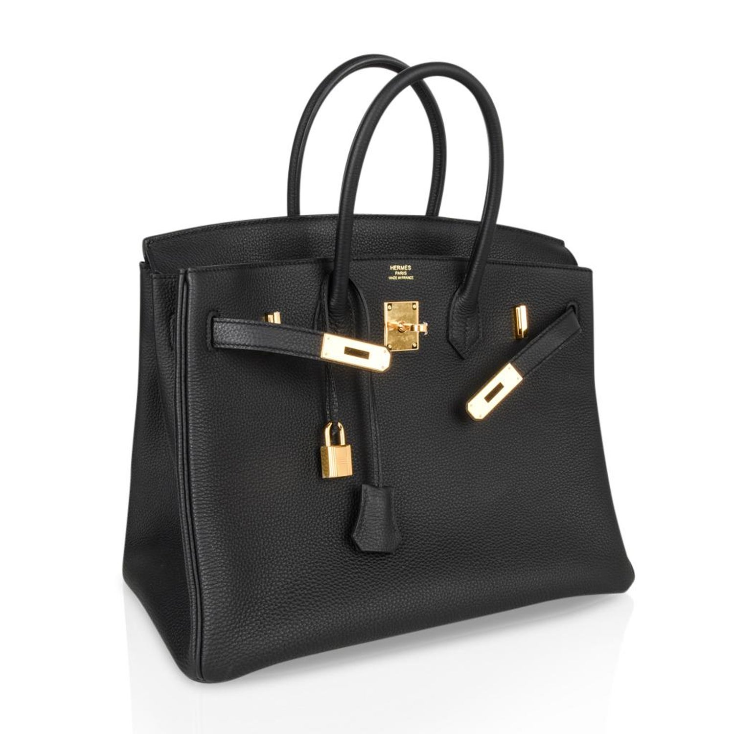 3befcd5deb2 Hermes Birkin 35 Bag Black Togo Gold Hardware Ultimate Classic For Sale at  1stdibs