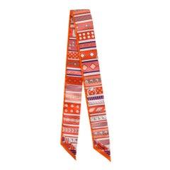 Hermes Twilly Colliers de Chiens Orange Colorway