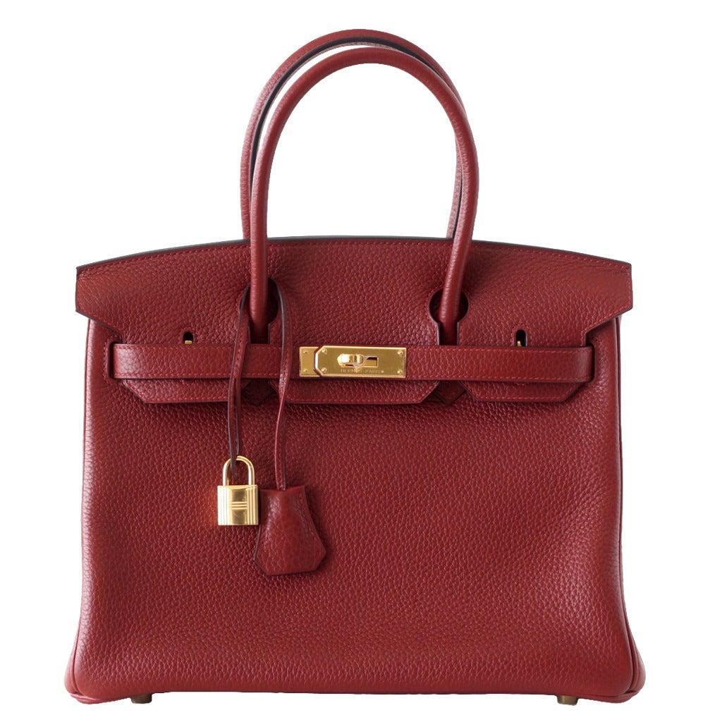 deea142d14d3 ... great hermes handbags - HERMES BIRKIN 30 bag ROUGE H gold hardware togo  leather at 1stdibs ...