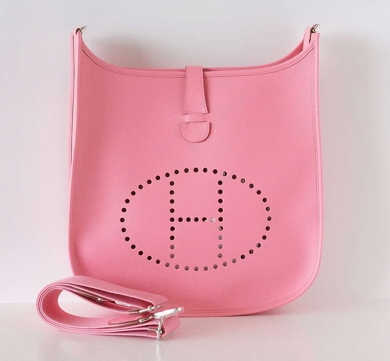 hermes birkin sale - HERMES bag Evelyne GM Rose Confetti pink epsom palladium For Sale ...