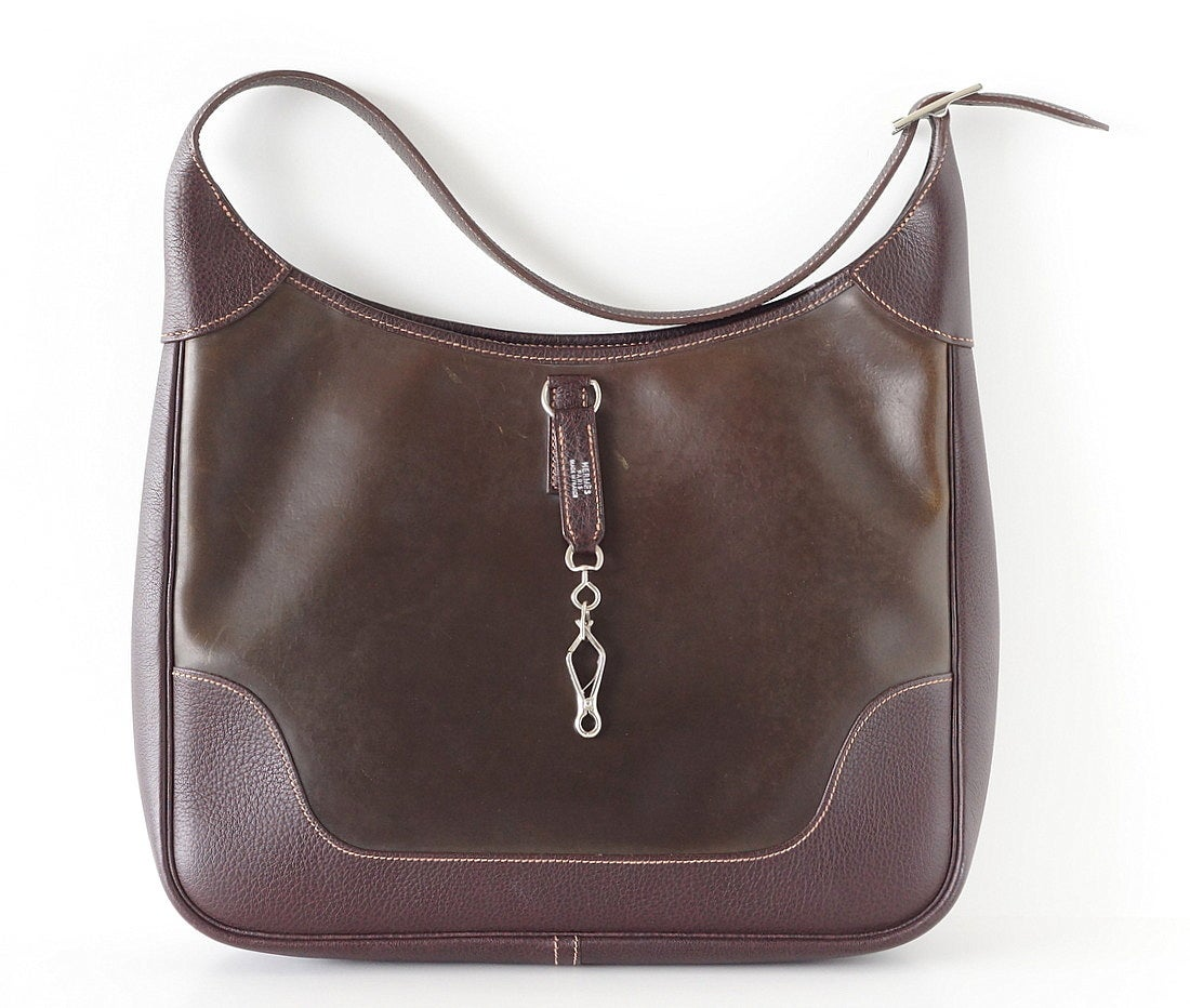 HERMES trim bag rare AMAZONIA leather 35 chic style For Sale at ...
