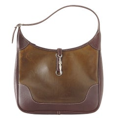 HERMES Trim Bag Rare AMAZONIA Leather 35 Very Chic