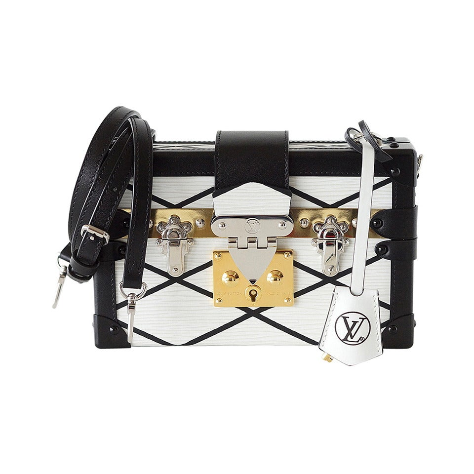 LOUIS VUITTON Petite MALLE Epi Trunk bag White Limited Editon Sold Out For Sale