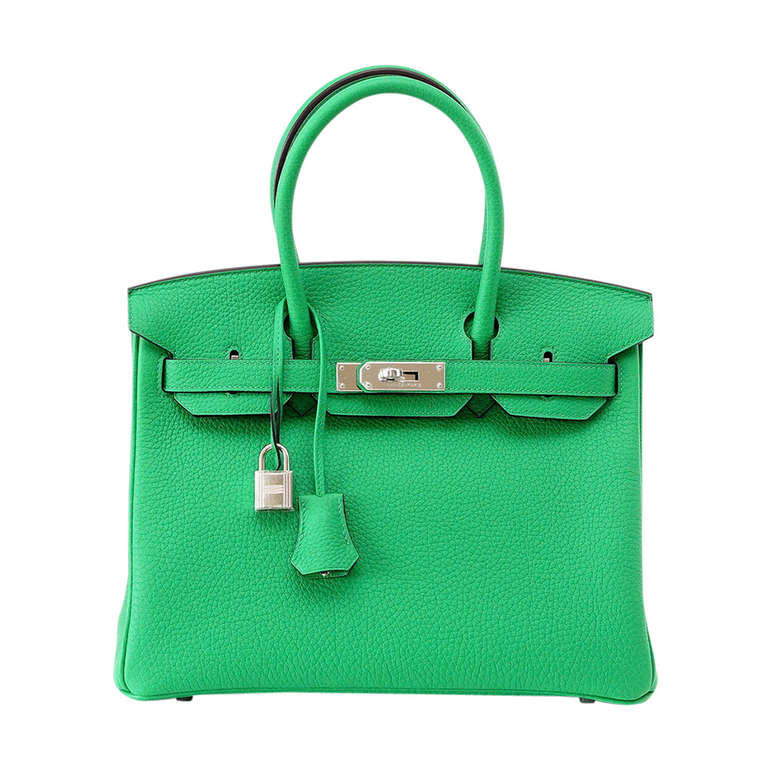 HERMES BIRKIN 30 Brilliant Bamboo Togo Leather  Palladium  1
