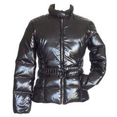 BLUGIRL Blumarine jacket feather light DOWN filled sleek black 42