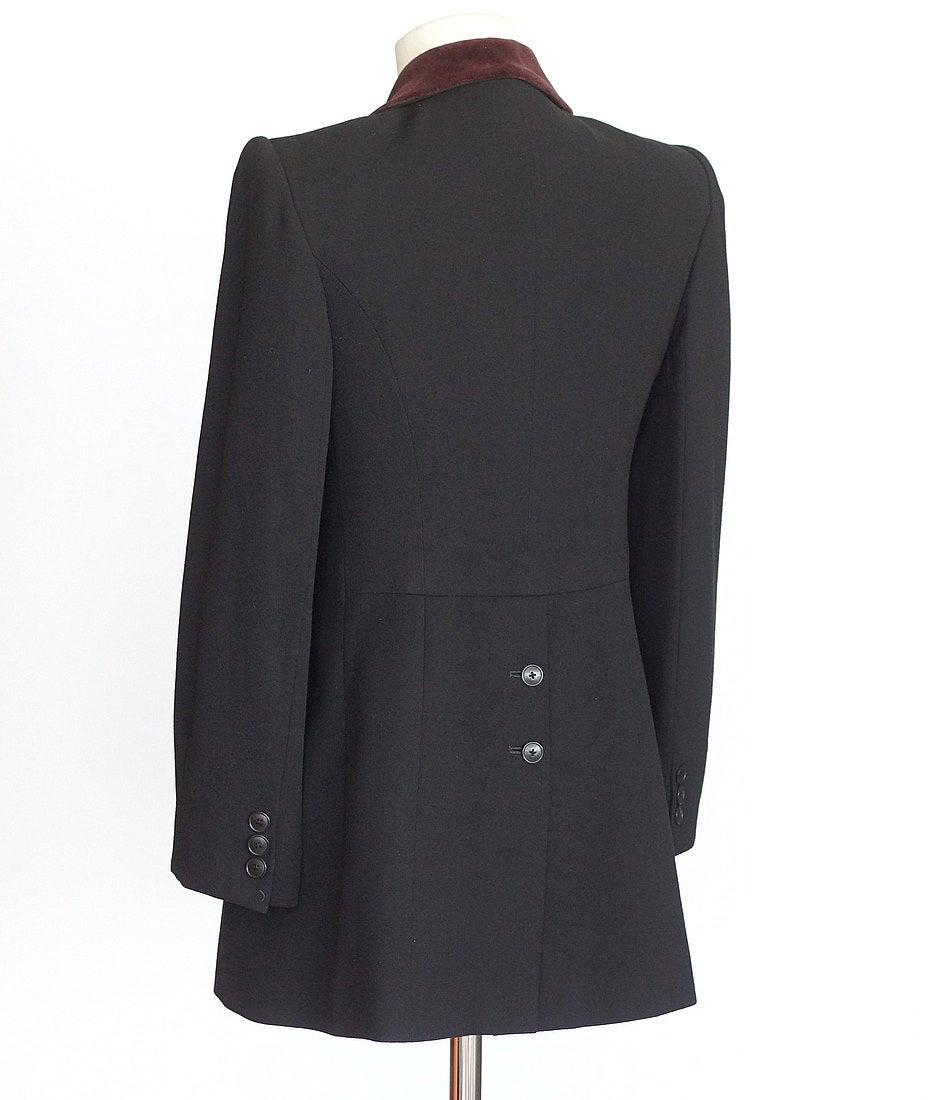 Hermes Jacket Riding Influence Zipper Pockets Velvet Collar Vintage 6 2