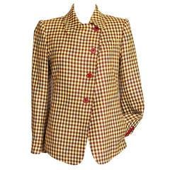 Hermes Jacket Fabulous Rich Plaid 36 / 4