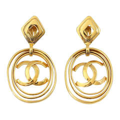 Chanel Hoop Vintage Earrings Worn 3 Ways Bold and Fabulous Rare