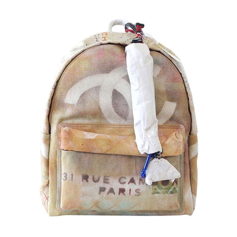 CHANEL bag Limited Edition Graffiti Runway Large backpack NWT 1