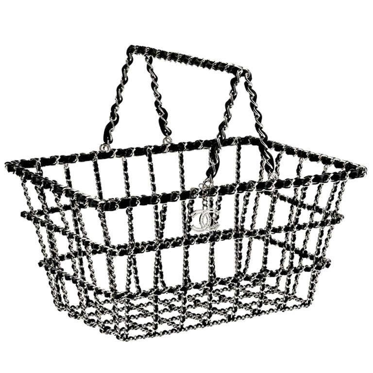 CHANEL bag shopping cart basket Runway 2014/2015 Limited Edition CC 1