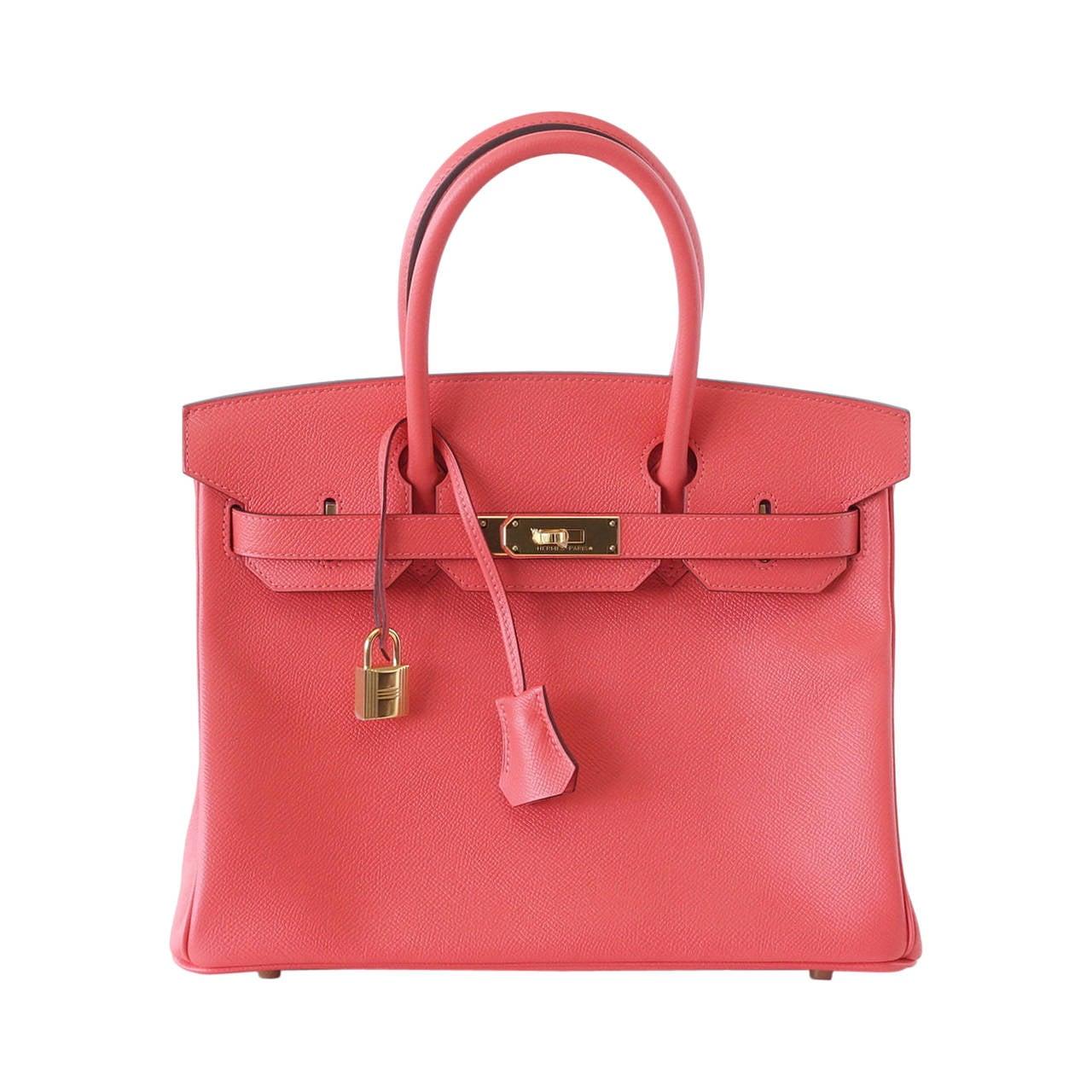 hermes alligator bag - HERMES BIRKIN 30 bag exquisite ROSE JAIPUR epsom gold hardware For ...